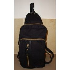 Hanpu Koubou Canvas Small Backpack, black $39.95 - This is an easy one strap sling-over-the-should style back pack. Ideal for travelers. #hanpukoubou #mensbags #backpack