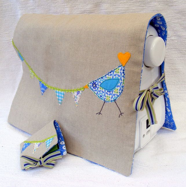 This sewing machine cover is so simple & cute, and it helps get your investment clean of dust and lint.