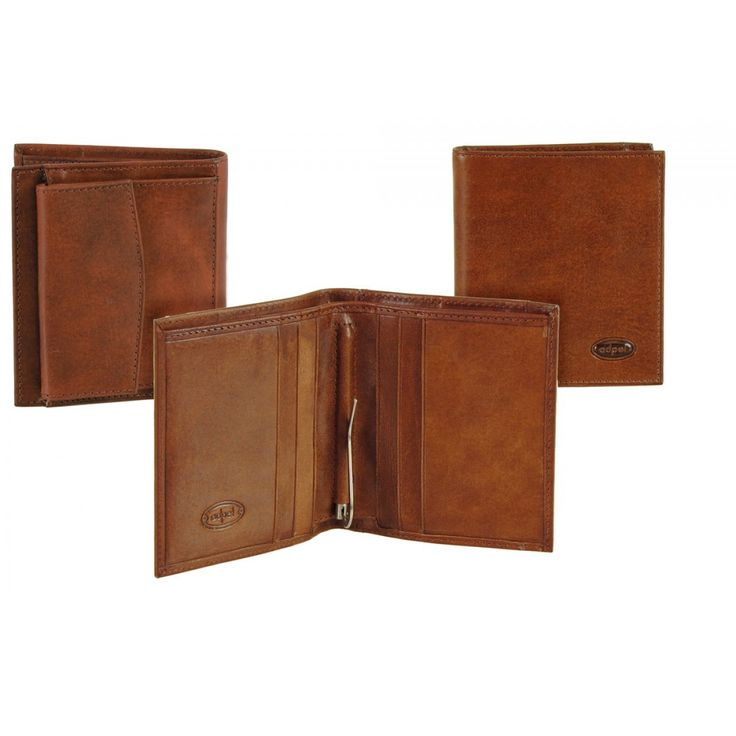 Men pocket wallet with spring clip, Vegetable leather | Adpel | Made in Italy