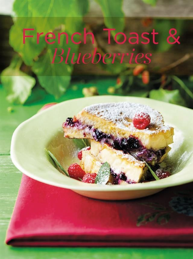French toast with blueberries | Franse roosterbrood met bloubessies  #French #toast #blueberries #breakfast