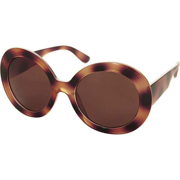 TOPSHOP Portia Portugal Sunglasses (1.245 RUB) ❤ liked on Polyvore featuring accessories, eyewear, sunglasses, brown, glasses, brown oversized sunglasses, round frame sunglasses, topshop sunglasses, tinted lens sunglasses and oversized eyewear