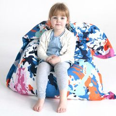 Coloured Swirl Kids Bean Bag