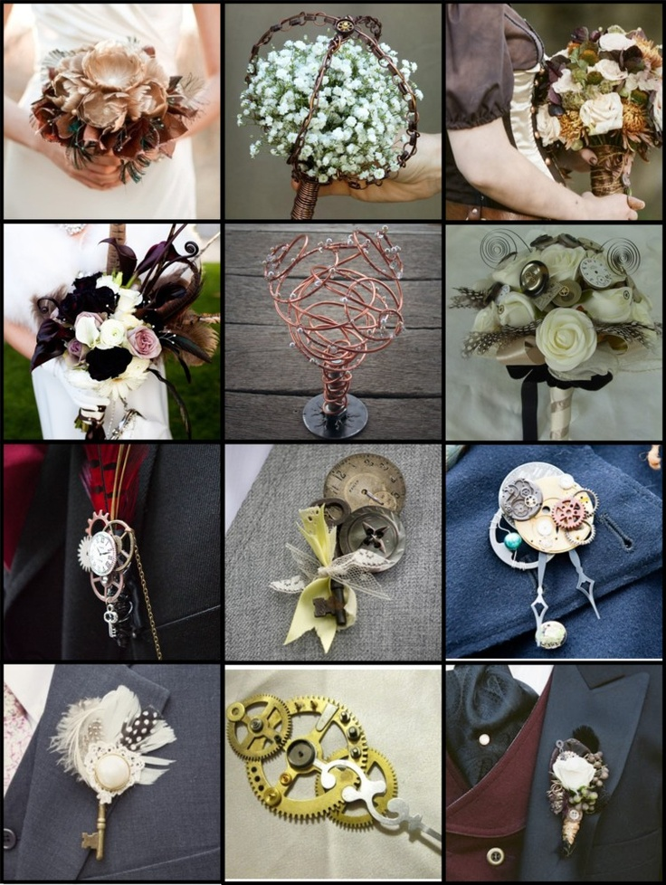 Steampunk Week: Tips and Trends Tuesday: Trend: Steampunk Bouquets and Bouts