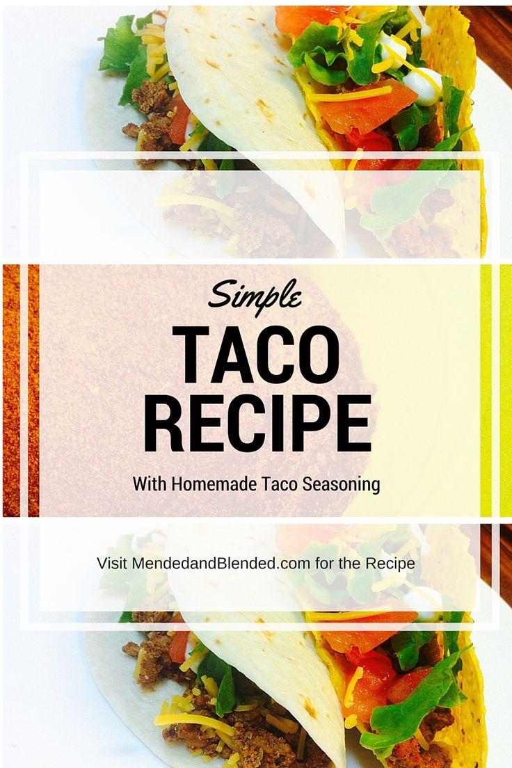 Visit mendedandblended.com for an easy, simple DIY recipe for taco seasoning.