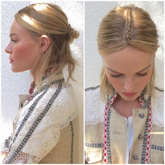 Kate Bosworth's braided part at Coachella