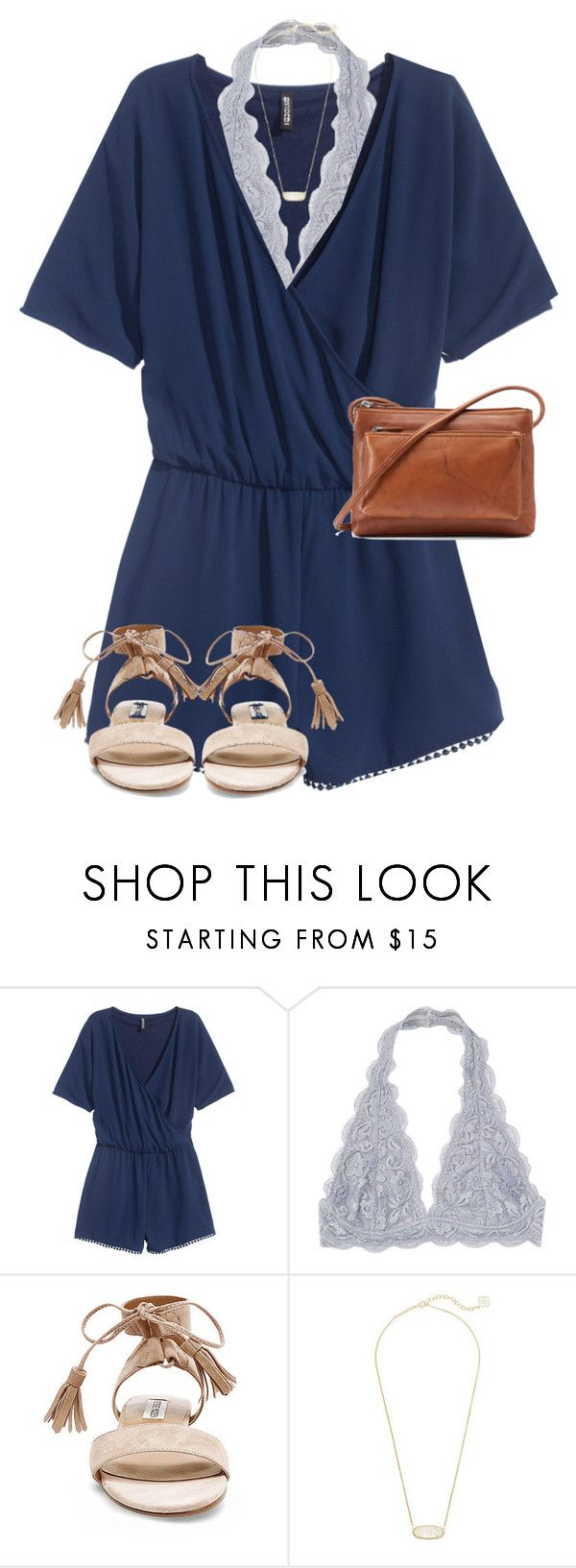 """I'm overly excited about this warm weather"" by mallorykennerly ❤ liked on Polyvore featuring H&M, Steve Madden, Kendra Scott and ILI"