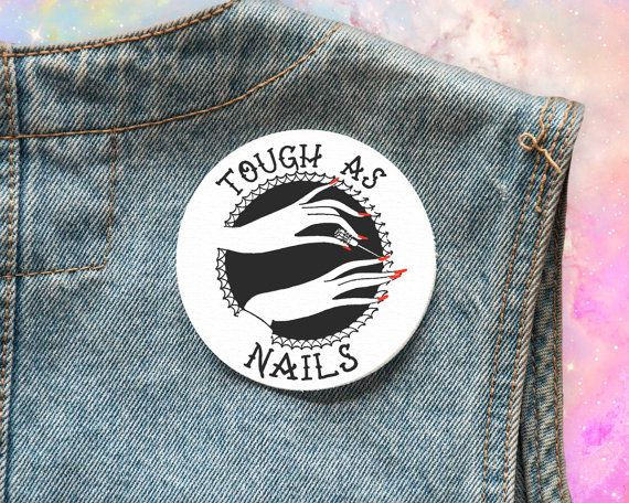 Tough As Nails, Feminine is Not Anti Feminist, Feminist, Beat it Creep, Patch, Feminist Patch, Feminism, Patch, Backpatch, Flair, Girl Gang