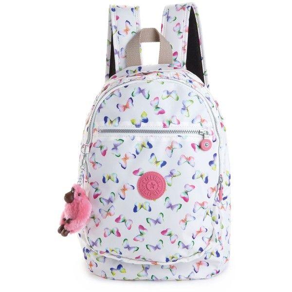 Kipling Handbag, Challenger Backpack ($89) ❤ liked on Polyvore featuring bags, backpacks, bolsas, women, kipling bags, kipling backpack, nylon bag, print backpacks y kipling