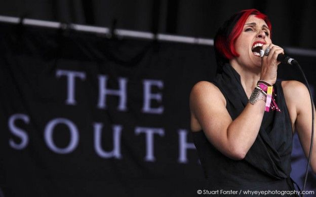 Alison Wheeler of The South performs at the South Tyneside Summer Festival in South Shields, UK. The event was held in Bents Park, South Shields. Photo by Stuart Forster.