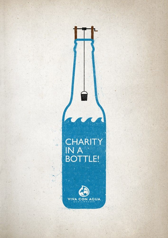 Viva con Agua #Charity #Bottle Poster | http://www.gutewerbung.net/viva-con-agua-charity-bottle-poster/ #Advertising