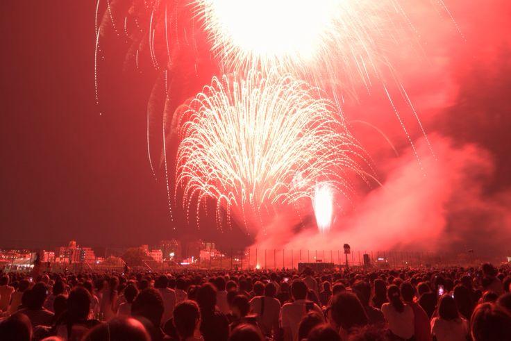 Fireworks in futako Tamagawa