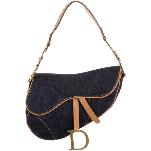 Pre-owned Christian Dior Saddle Bag ($220) ❤ liked on Polyvore featuring bags, handbags, shoulder bags, blue, christian dior handbags, blue handbags, hand bags, handbags purses and handbags shoulder bags