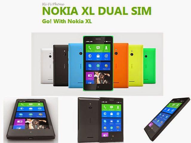 Nokia XL Dual SIM  hifiphone.blogspot.com