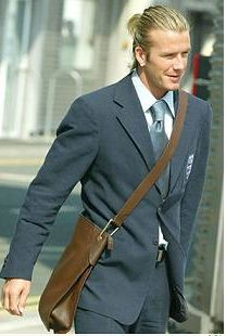 Yes It S Just A Plain Brown Leather Letterman Sling Bag But Beckham