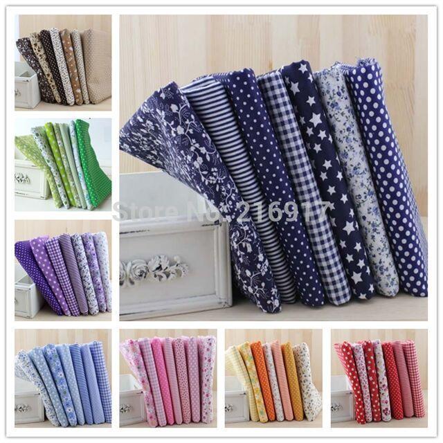 56Pcs Cheapest 100% Cotton Fabric Tissu Telas Print Cotton Fabric Doll Cloth Fabrics For Patchwork Sewing Quilt Textile 50*50cm