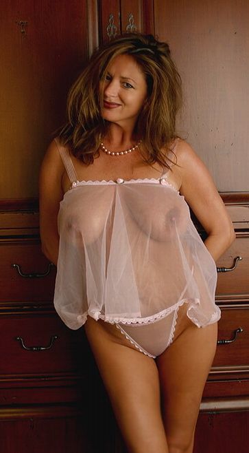 Fat mature sheer panties