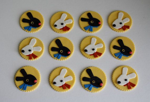 Fondant Gaspard and Lisa Inspired Cupcake Toppers on Etsy, $26.95