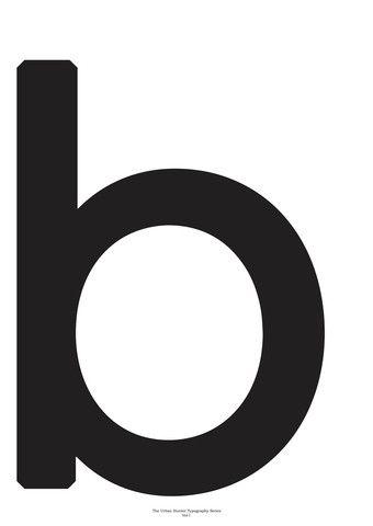 Typography Art Print - 'B'