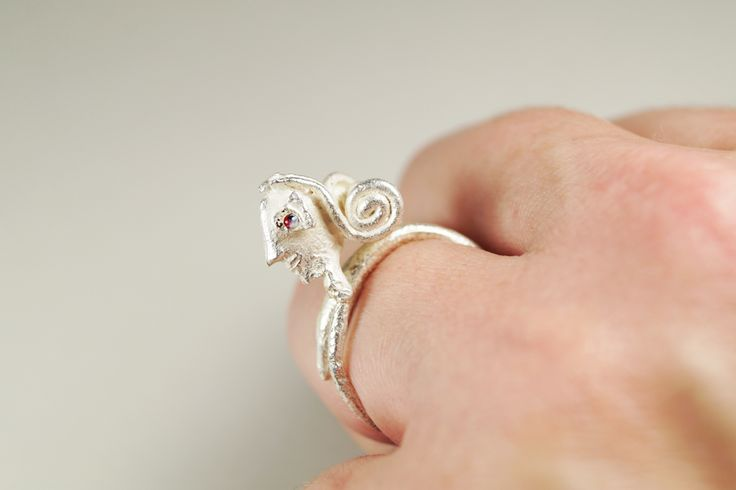Bride, Handmade silver 925 ring for women, Inspired by micro-sculpture,  handmade by Agori Fotopoulou