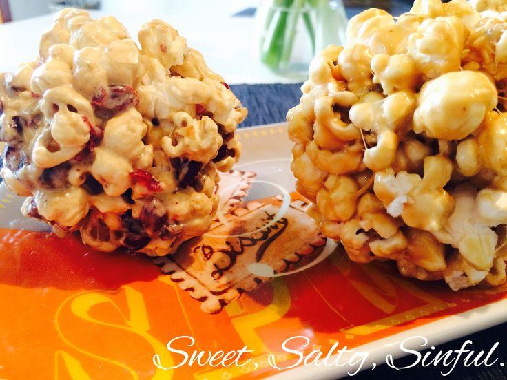 Popcorn al caramello e marshmallows, e popcorn con marshmallows e mirtilli.  https://www.facebook.com/sweet.salty.sinful