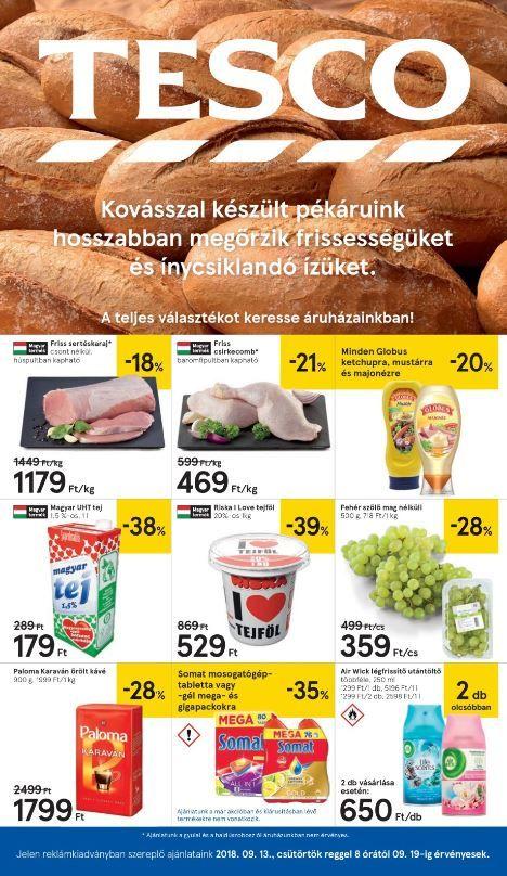TESCO Akciós Újság 2018. 09.20-09.26-ig  Riska tej a6b385ce89