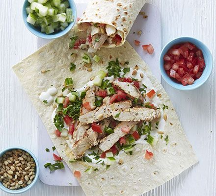 Lebanese chicken wraps