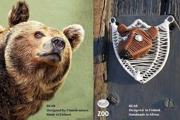 Handmade bear wall hook. #habitare2014 #design #sisustus #messut #helsinki #messukeskus