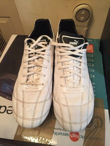 Puma Esito Classic FG Football boot /White & Black UK Size 13/EU 48-Leather Sporting Goods:Football:Football Boots #forcharity