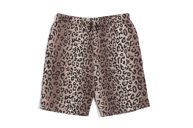 Leopard Fleece Short Pants