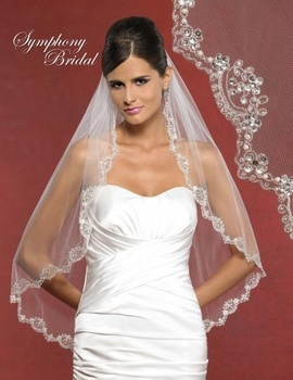 Symphony Bridal 5908VL Beaded Wedding Veil! Add bling to ...