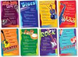 "Checkout the ""Music Genres Bulletin Board Set"" product"