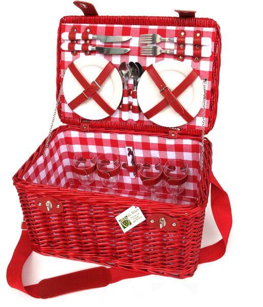 """CESTA DE PICNIC """"VICHY"""" (picnic basket """"vichy"""") #CestasPicnic #RegalosOriginales"""