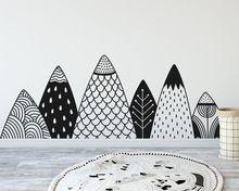 Узорные Горы Настенные Nordic Стиль Горный Лесной Питомник Племенной Декор Стены Природа Детские Виниловые Наклейки Росписи A730(China (Mainland))
