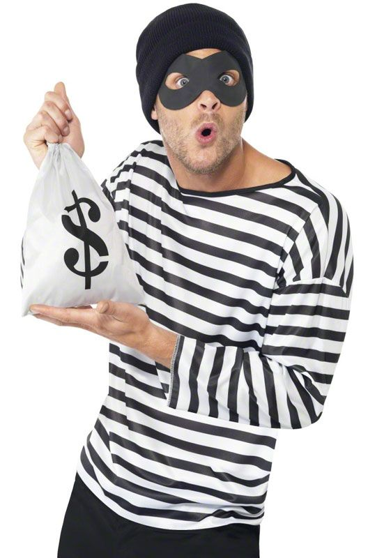 Bank Robber Instant Costume Kit - Pure Costumes