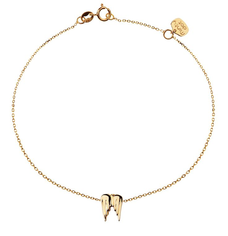 Bransoletka złota Minty dot skrzydła anioła - poczuj swoje skrzydła, możesz naprawdę wszystko!