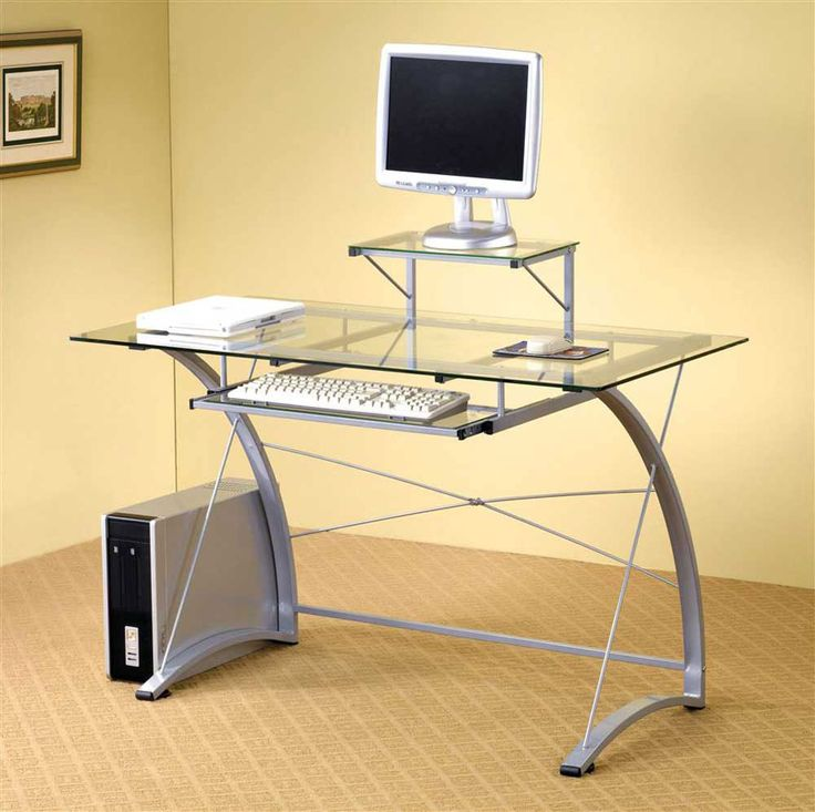 interior magnificent computer desk decoration with charming clear glass rectangular computer desk and unique white iron curved shaped legs also beu2026