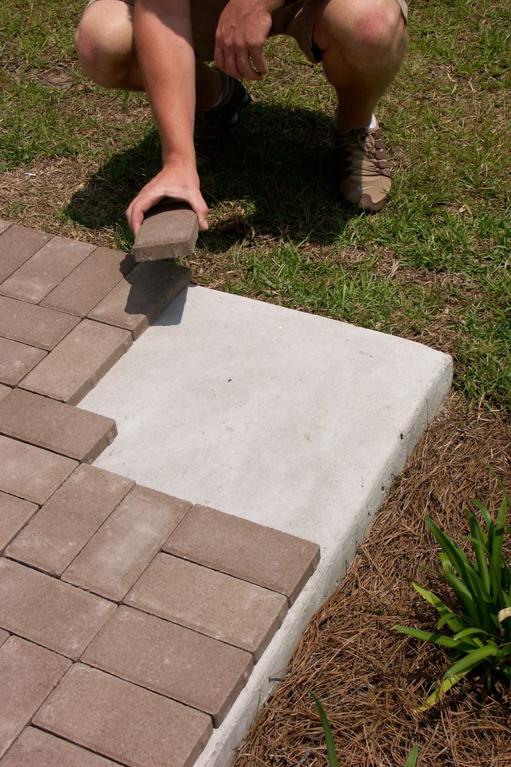 Thin Pavers Backyard In 2019 Pavers Over Concrete