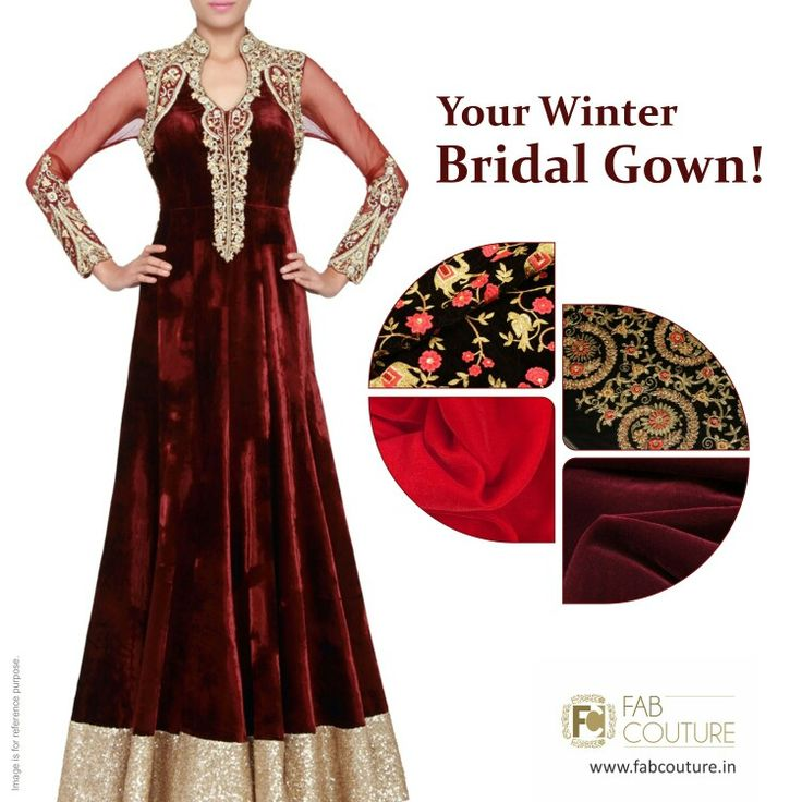 Have  your #Bridal #Gown this winter with right fabric #Velvet! with #FabCouture! #DesignerFabric at #AffordablePrices.  Buy your stock of fabric from: https://fabcouture.in/fabrics/plains/velvet.html #DesignerDresses #Fabric #Fashion #DesignerWear #MenFashion #ModernWomen #Saree #DesiLook #ClassiLook  #Embroidered #WeddingFashion #EthnicAttire #WesternLook #affordablefashion #GreatDesignsStartwithGreatFabrics #LightnBrightColors #StandApartfromtheCrowd #EmbroideredFabrics