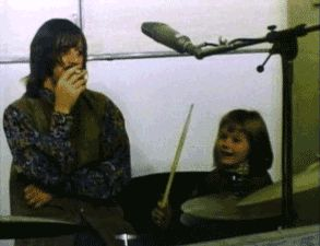 We All Live In A Yellow Submarine,Yellow Submarine — thebeatlesordie: Heather McCartney in the studio...
