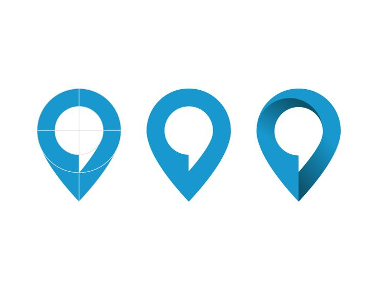 Logo design for a online-platform:  Combining map-location (pin) and commenting-function (speech-bubble).