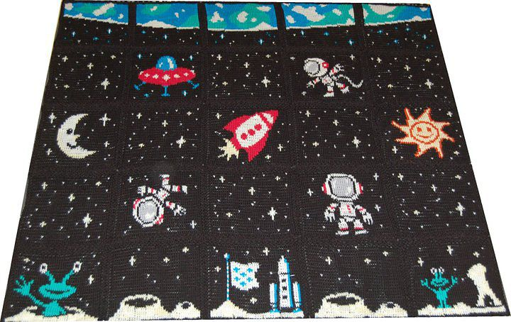 Ravelry: Outer Space Blanket pattern by ShoedivaOriginals