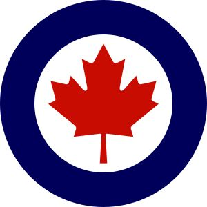 The maple leaf of the Royal Canadian Air Force (RCAF).