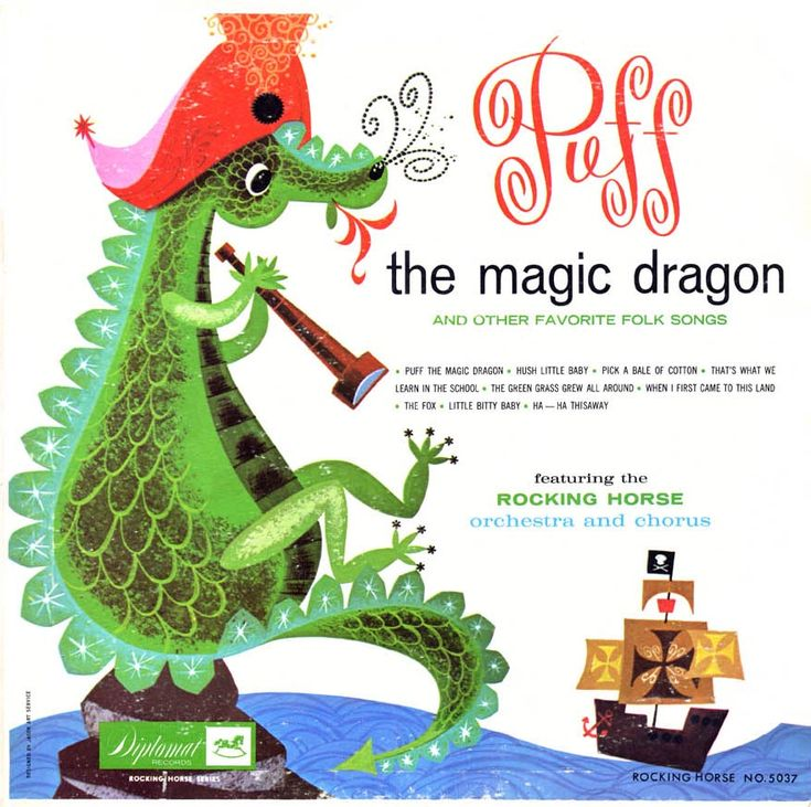 my first dragon - Puff the Magic Dragon sung by Peter, Paul & Mary
