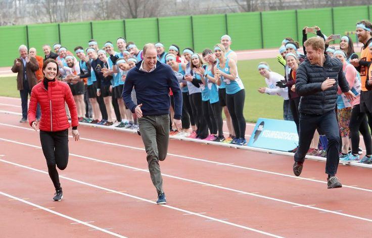 William, Kate und Harry: Sprint royal. Den größten Spaß hatte offensichtlich Prinz Harry.