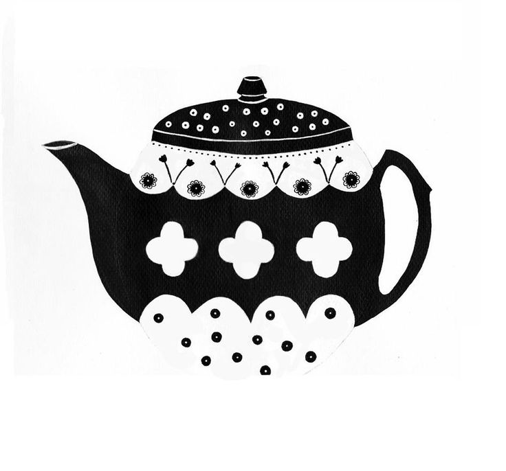 Teapot. My illustration. http://fabricandcolor.com/