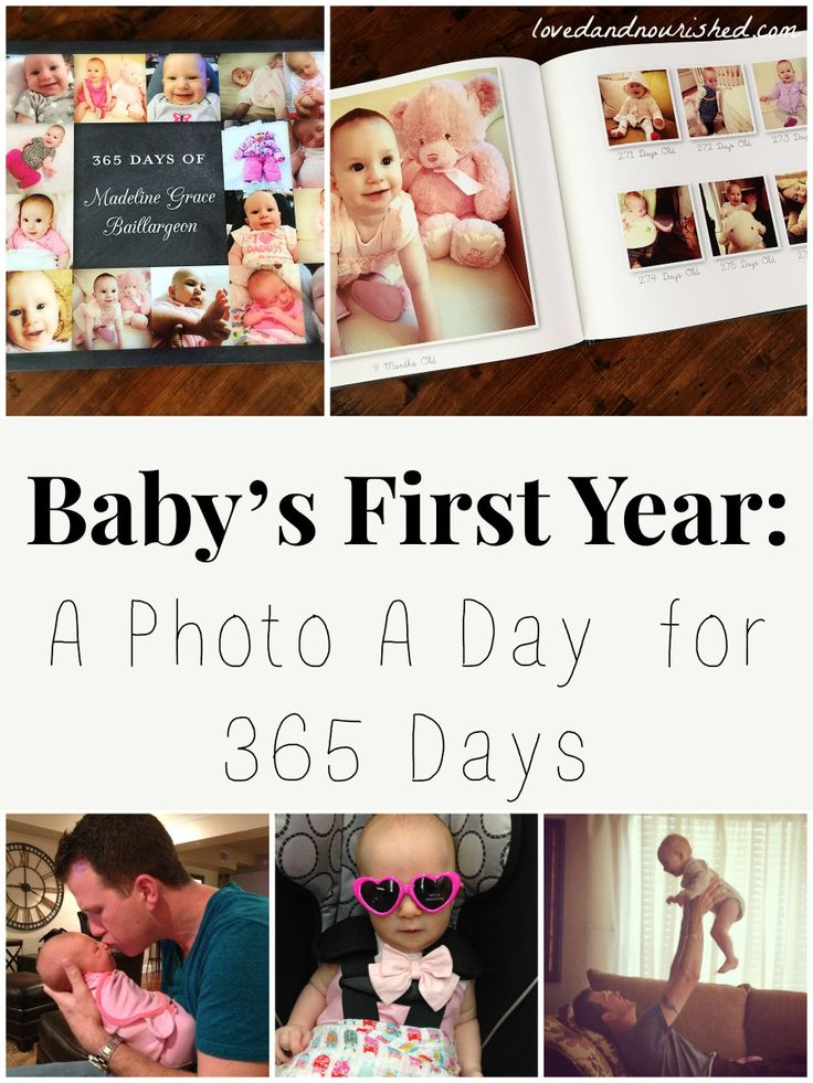 A Picture A Day for Baby's First Year - a fun, creative way to capture all the subtleties of babies first year.