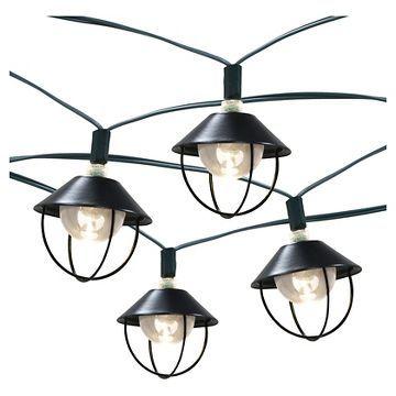 20ct Solar Metal Lantern Outdoor Light Set - Threshold™