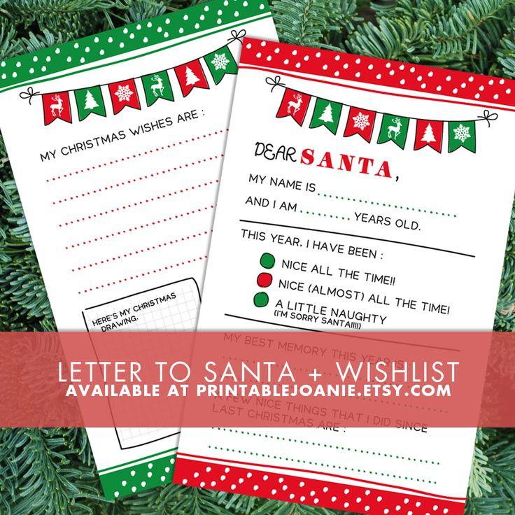 Letter to Santa + Christmas Wishlist - Naughty or Nice