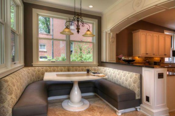 Modern Large Kitchen Booth Seating Design Managing
