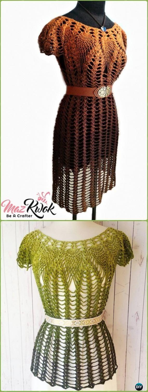 Crochet Lacy Love Dress Free Pattern - Crochet Women Dress Free Patterns